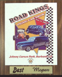 Click here for larger image of this 10½ x 13 inch car show trophy plaque.