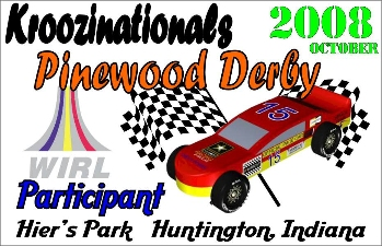 Car Show Dash Plaques for 2008 Pinewood Derby - Huntington Indiana