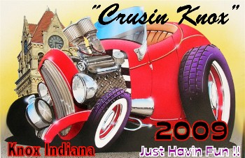 "Car Show Dash Plaques for 2009 ""Crusin Knox"" Car Show in Knox Indiana"