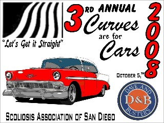 Dash Plaques for 2008 Car Show for the Scoliosis Association of San Diego