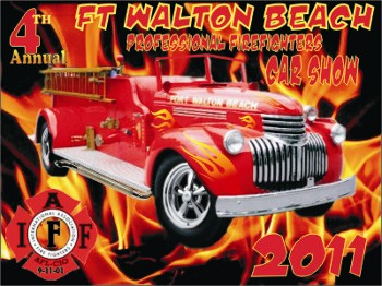 Dash Plaque for Ft. Walton Beach Professional Firefighters Car Show