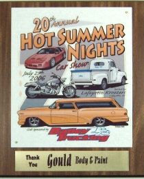 Click here for larger image of this 10� x 13 inch car show trophy plaque.