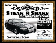 CLICK HERE for Larger Image - Plaque for Steak N Shake Car Show - 7 inches by 9 inches