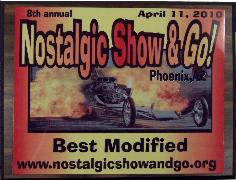 Click here for larger image of this 7 by 9 inch car show trophy plaque.